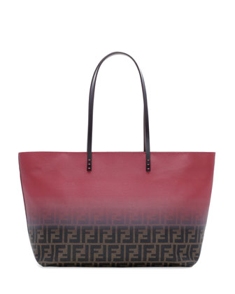 Ombre Zucca Tote Bag, Brown/Red