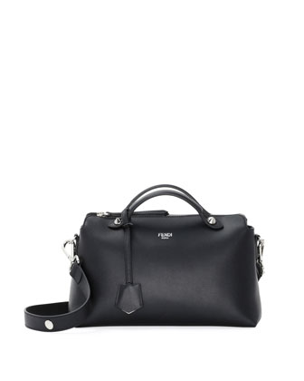 By The Way Medium Leather Satchel Bag, Black