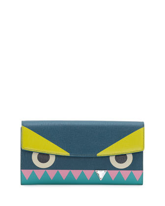 Monster Crystal-Tooth Continental Wallet