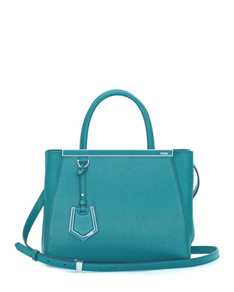 2Jours Mini Shopping Tote Bag, Aqua