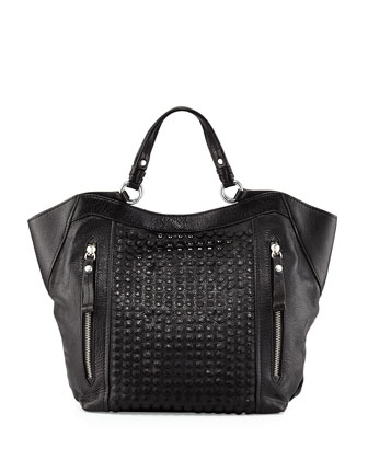 Aquarius Leather Shoulder Bag, Black