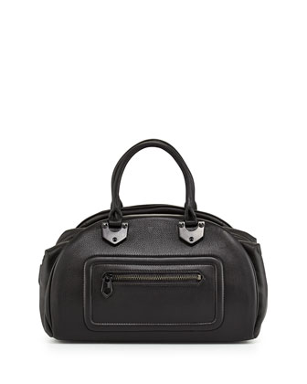Belinda East-West Satchel Bag, Black