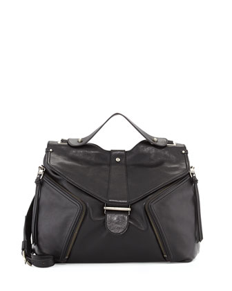 Cole Lambskin Shoulder Bag, Black