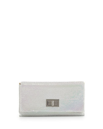 Blake Metal Mesh Clutch Bag, Pearl