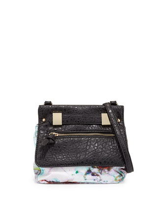 Abigail Floral-Print Faux-Leather Crossbody Bag, Multi
