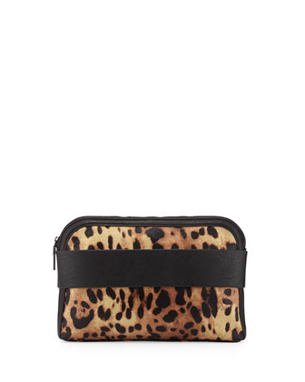 Dream Boat Leopard Print Clutch Bag