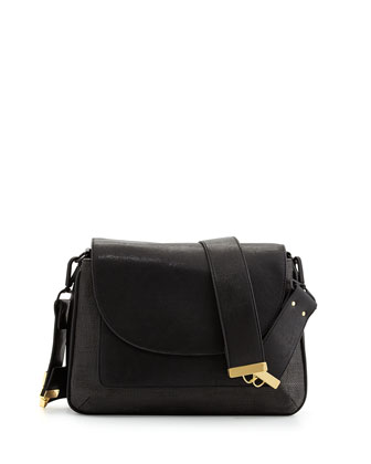 Mod Squad Faux Leather Shoulder Bag, Black