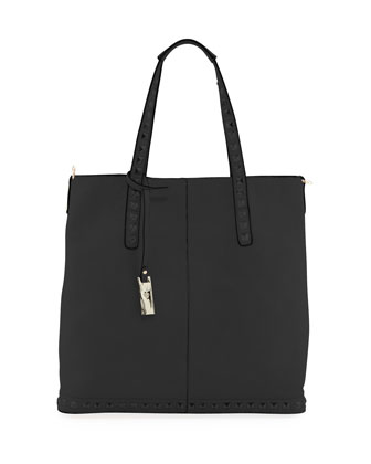 Lennox Stud-Trim Tote Bag, Black