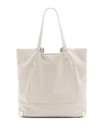 Owen Topstitched Tote Bag, Moonstruck