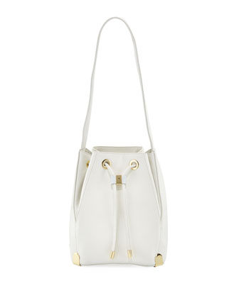 Janet Drawstring Shoulder Bag, Snow White (Stylist Pick!)