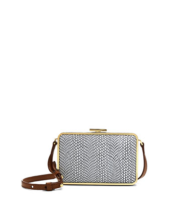 Mina Spotted Combo Crossbody Bag, Black