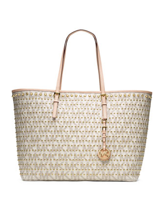 Medium Jet Set Travel Studded Tote