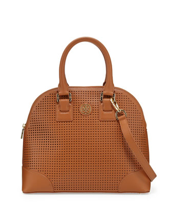 Robinson Small Perforated Dome Satchel Bag, Luggage