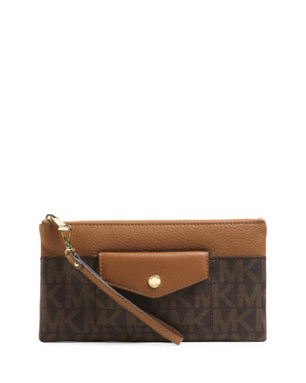 Large Mira Zip Clutch