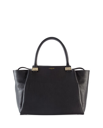 Trilogy Leather Tote Bag, Black