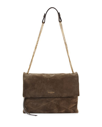 Sugar Suede Shoulder Bag, Gray