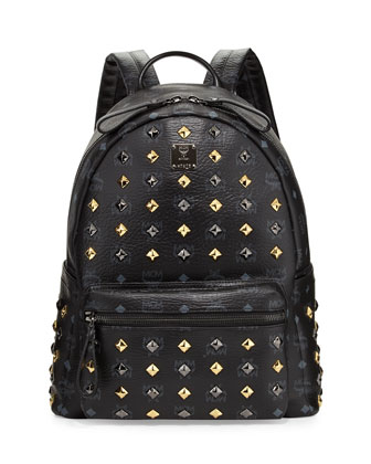 Stark Studded Medium Backpack, Black
