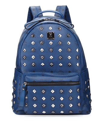Stark Studded Medium Backpack, Dress Blues