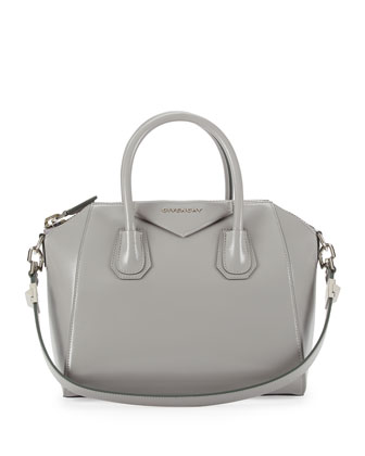 Antigona Box Calf Satchel Bag, Gray