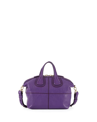 Nightingale Micro Leather Satchel Bag, Purple