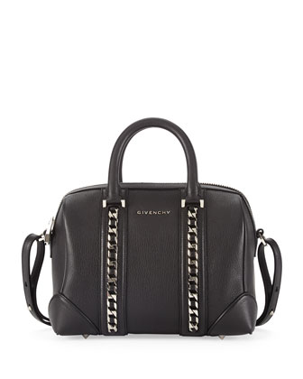 Lucrezia Mini Chain Sugar Satchel Bag, Black