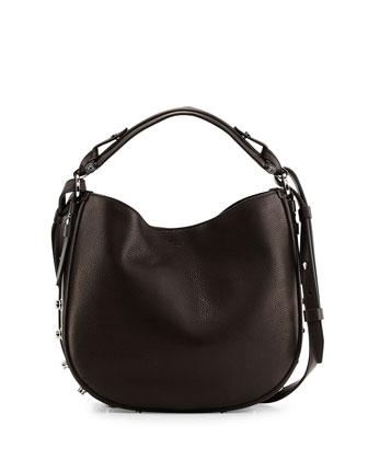 Obsedia Small Nail-Head Hobo Bag, Black