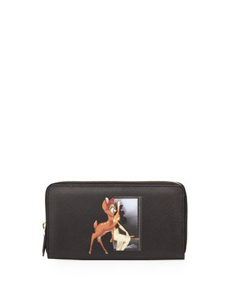 Printed Zip-Around Continental Wallet, Multi