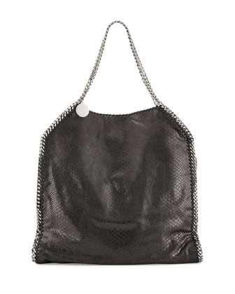 Falabella Large Faux-Python Tote Bag, Black