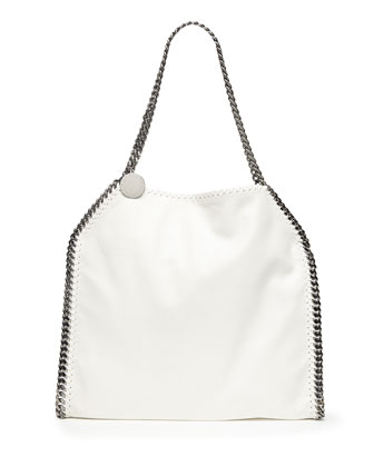 Falabella Baby Bella Shoulder Bag, White