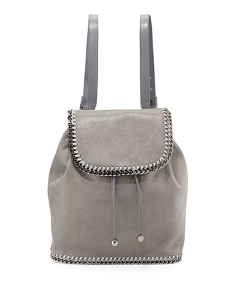 Falabella Shaggy Deer Backpack, Light Gray