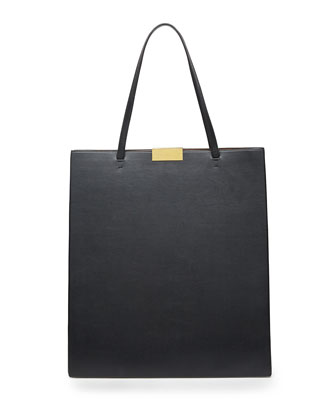 Beckett Faux-Napa Tote Bag, Black