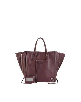 Papier A5 Zip Around Tote Bag, Aubergine