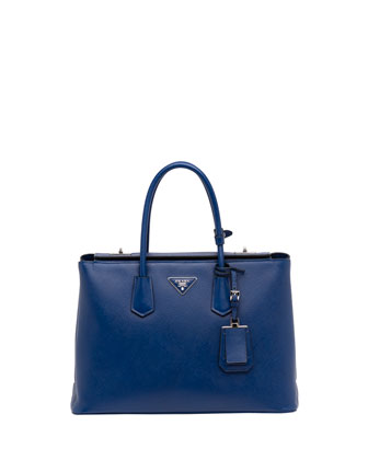 Saffiano Cuir Twin Bag, Blue
