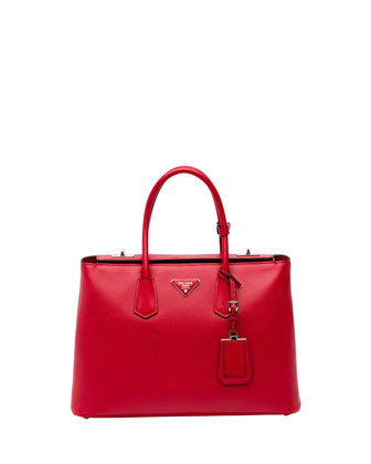 Saffiano Cuir Twin Bag, Red