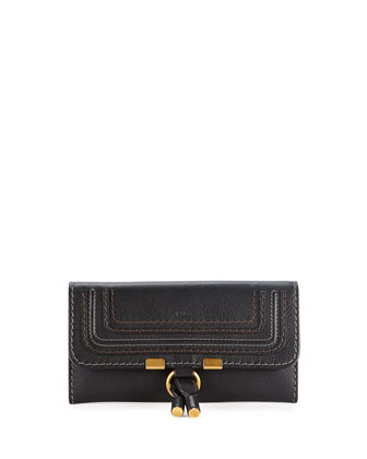 Marcie Continental Flap Wallet, Black