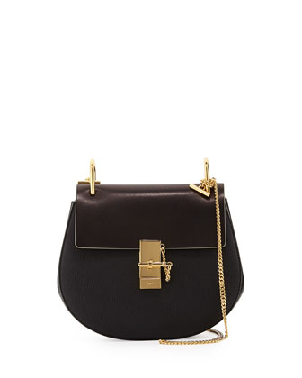 Drew Medium Chain Shoulder Bag, Black