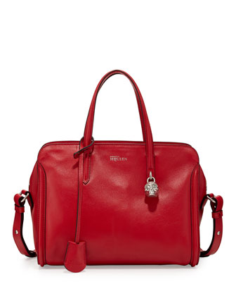 Padlock Zip-Around Tote Bag, Red
