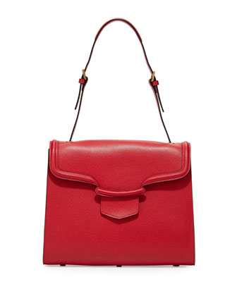 Heroine Flap Shoulder Bag, Red
