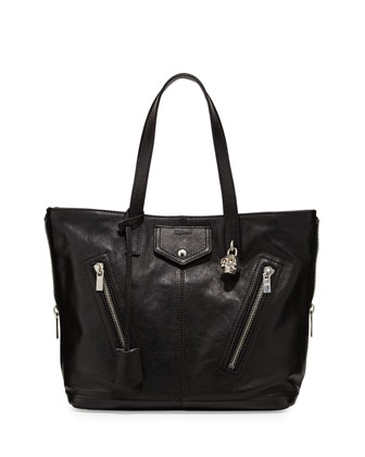 Padlock Biker Tote Bag, Black