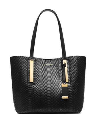 Medium Jaryn Snakeskin Tote