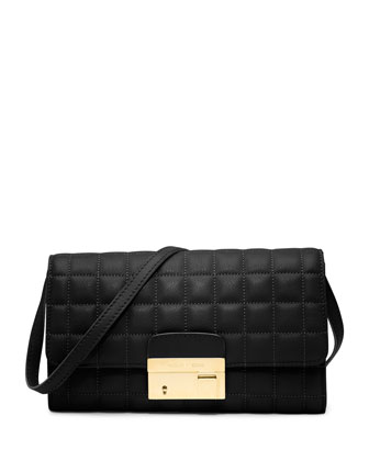 Gia Quilted Clutch with Lock