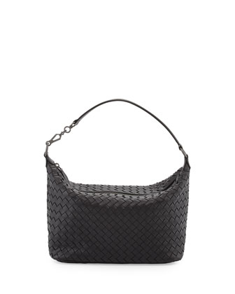 Small Zip Hobo Bag, Black