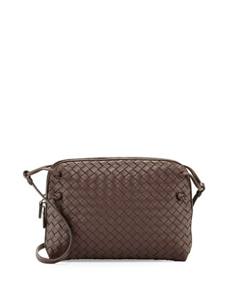 Veneta Small Crossbody Bag, Dark Brown