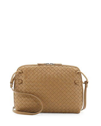 Veneta Small Crossbody Bag, Sand