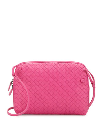Veneta Small Crossbody Bag, Hot Pink