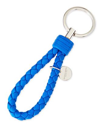 Braided Loop Key Ring, Cobalt Blue