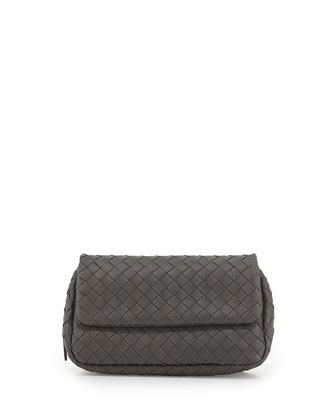 Woven Mini Crossbody Bag, Gray