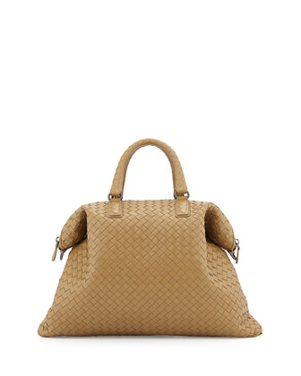 Convertible Woven Tote Bag, Sand
