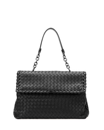 Olimpia Medium Shoulder Bag, Black
