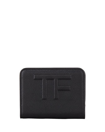 Small Logo Continental Wallet, Black